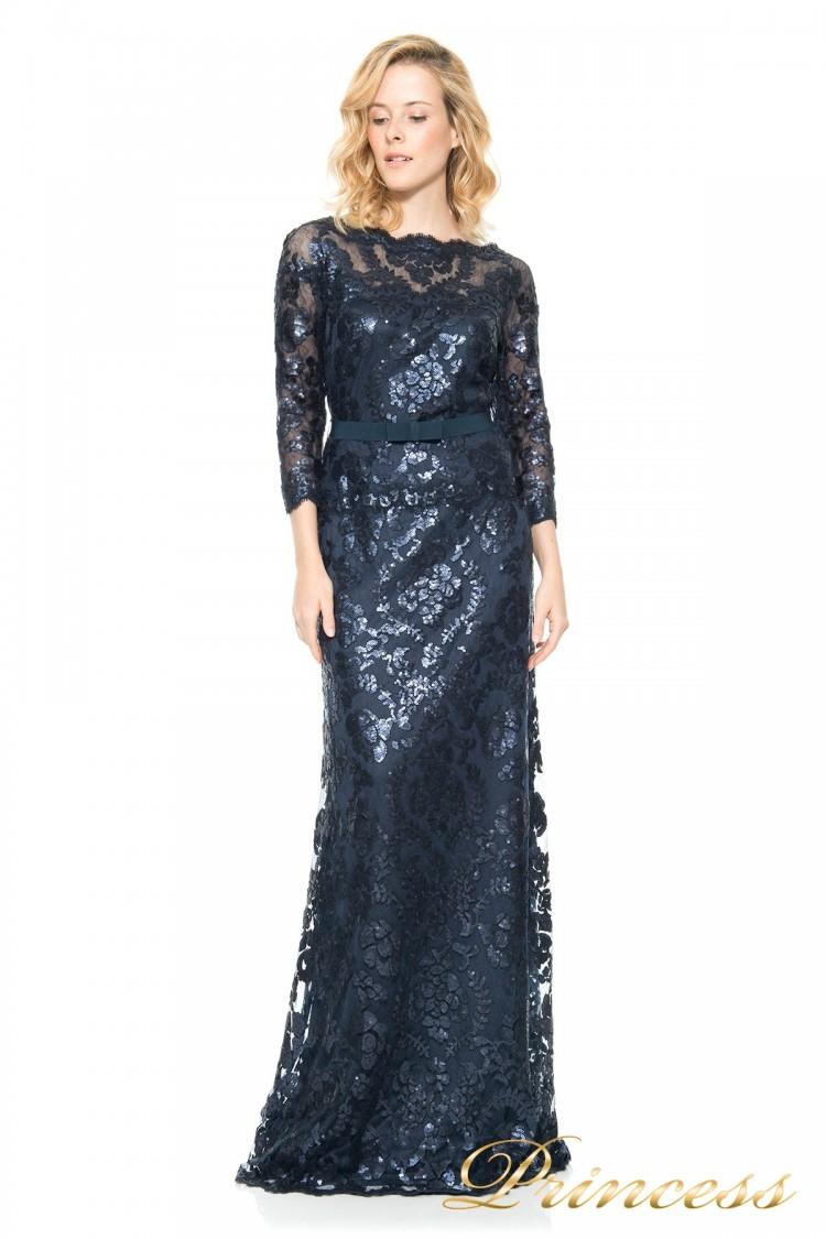 Вечернее платье Tadashi Shoji  ALT1224L синего цвета