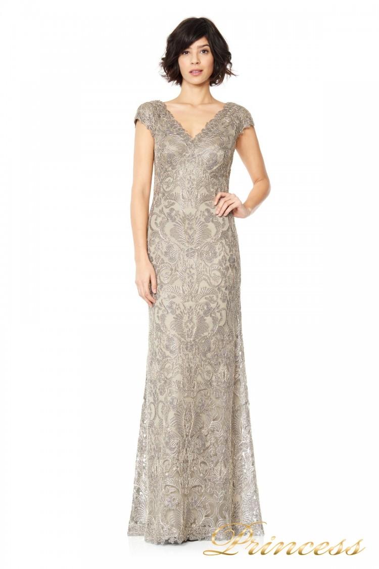 Вечернее платье Tadashi ALX1191LZ серого цвета