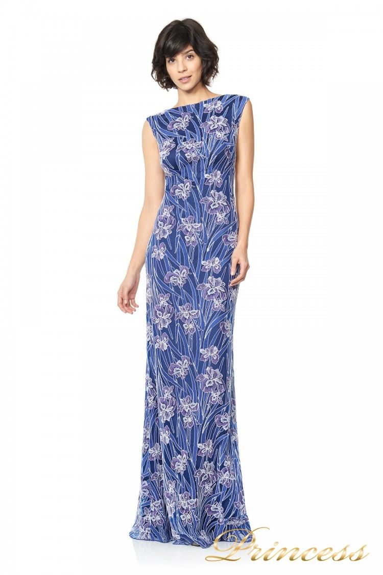 Вечернее платье TADASHI SHOJI ASV2131L цветочного цвета