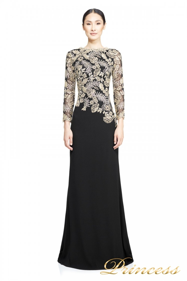 Вечернее платье TADASHI SHOJI ATH16206LXY GOLD чёрного цвета