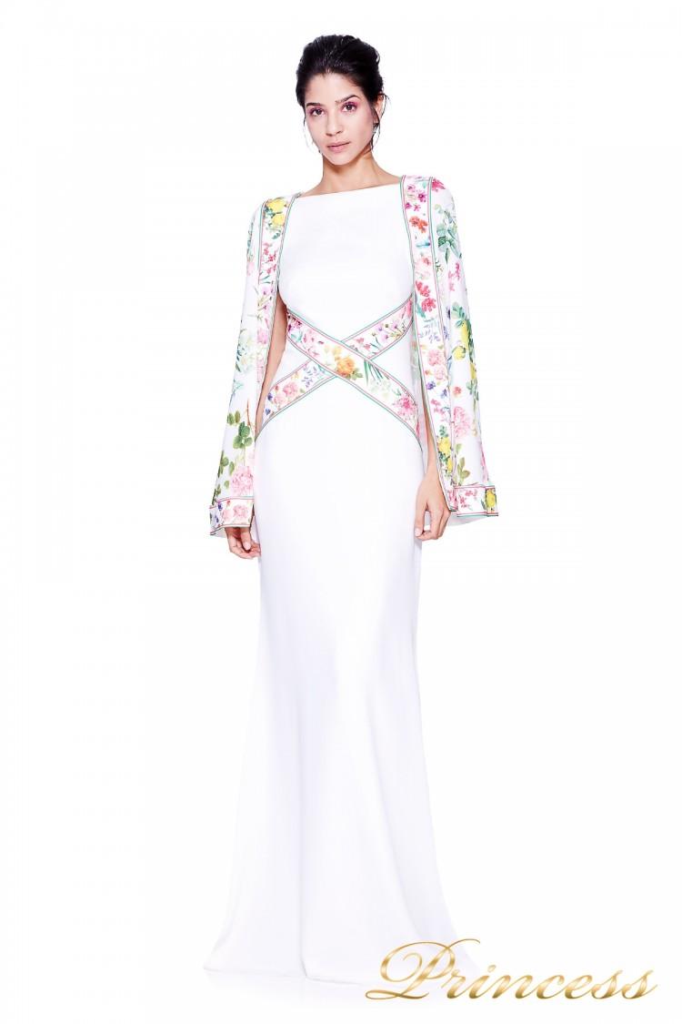 Вечернее платье TADASHI SHOJI AVZ17126L синего цвета